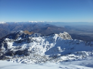 Vista vero le Alpi Giulie