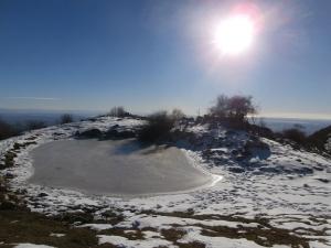 Stupendo panorama invernale in Val de Lama