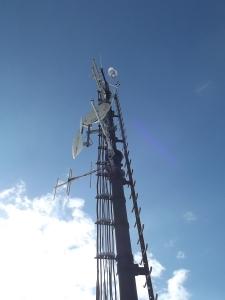 Stazione meteo sulla cima