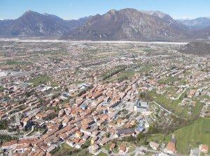Vista su Gemona del Friuli