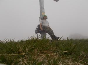 Sulla cima di Pala d'Altei, 1528 metri slm
