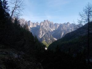 Vista verso la val Montanaia e la Val Monfalcon di Cimoliana