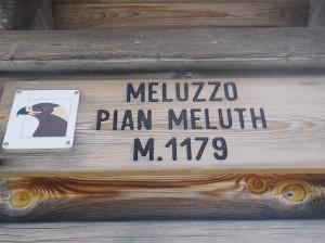 Cartello a Pian Meluzzo