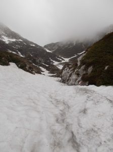 Qualche nevaio da attraversare