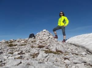 Autoscatto sulla cima della Caulana