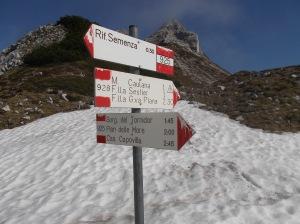 Forcella Val Grande e, dietro, cima Val Grande