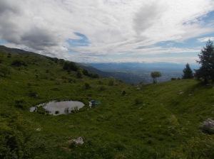 Vista verso pianura e sulle Alpi Giulie