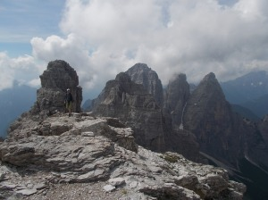 Dalla cima dello Sfornioi Nord, il gruppo del Bosconero