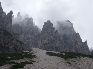La torre di fronte a cima Eva