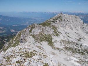 La cresta che porta al Guslon