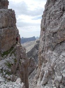 Spaccatura prima della cima