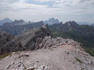 Sulla terrazza delle Dolomiti