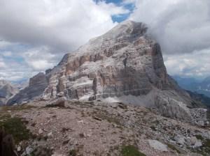 Dalla vetta del Col dei Bos, la Tofana di Rozes