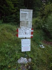 Inizio del sentiero CAI 625