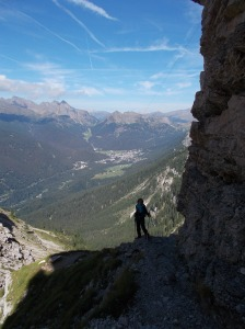 Vista verso la Val Cismon e San Martino