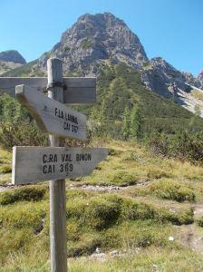 Verso casera Val Binon