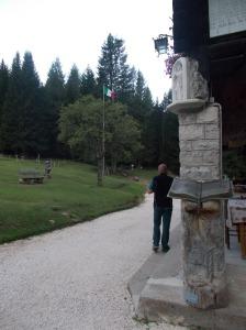 In attesa del caffè al rifugio Padova