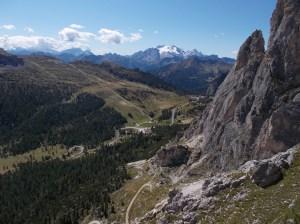 Vista verso la Marmolada e Torre Piccola di Falzarego