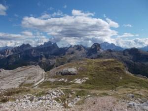 Panorama verso Averau, Nuvolau, Cinque Torri...