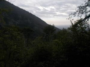 Dalla valle vista verso la pianura