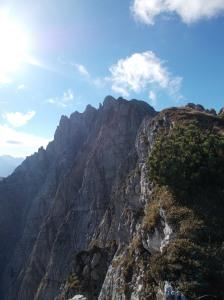 Inizio della cresta che porta alla cima dello Zuc dal Bor