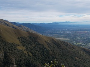 Panorama verso le Alpi Giulie e del Gemonese