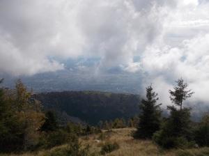 Panorama smorzato dalle nuvole