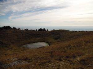 Lama e vista verso valle