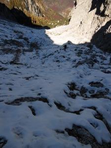 Nella neve del Ciadin de le Pregoane