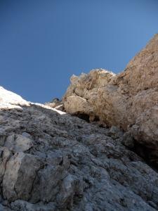 Spaccatura che sale verso la cima