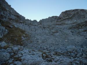 La cresta che unisce cima Laste da Cima val Piccola