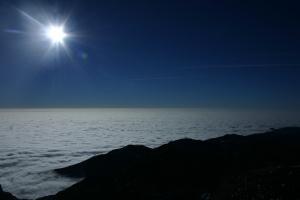 Mare di nuvole verso la pianura