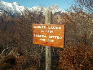 Sulla cima del monte Laura