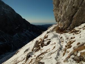Comincia la neve, sentiero CAI 926