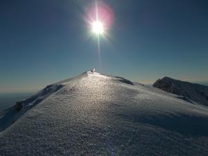 Sulla cima del monte Laste, 2247 metri slm