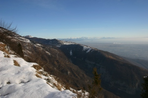 Splendido panorama verso le Alpi Giulie