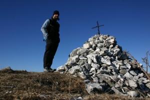 Autoscatto sulla cima del Col dei S'cios