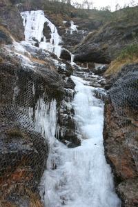 Piccole cascate di ghiaccio
