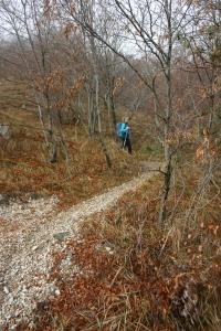 Valentina lungo il Troi delle Cloipes... la montagna aiuta il corpo e il fisico!