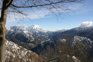 """Dal """"belvedere"""" vista sul lago di Barcis"""