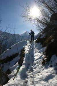 La neve aiuta a scendere velocemente