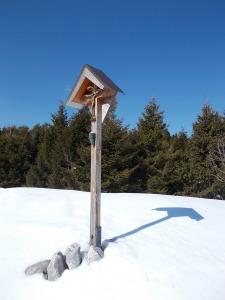 Il crocefisso nei pressi della cima