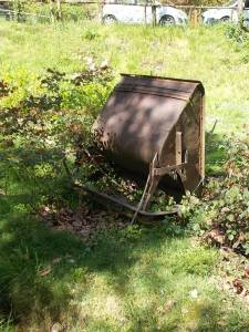 Vecchio carrello da miniera