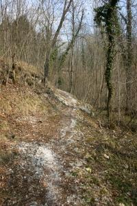 Si sale lungo il sentiero