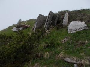 Le classiche formazioni rocciose della zona