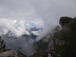 Dolomiti coperte dalle nuvole