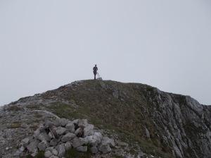Nicola sulla cima della Palazza
