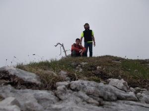 Autoscatto sulla cima della Palazza