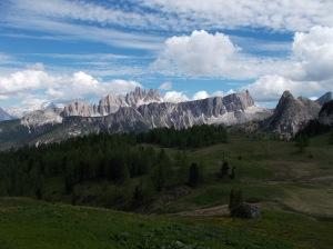 Magnifico panorama dal rifugio Cinque Torri