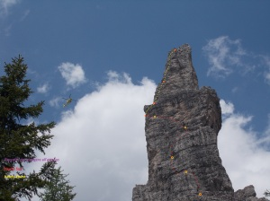 Campanile di Val Montanaia, via di salita